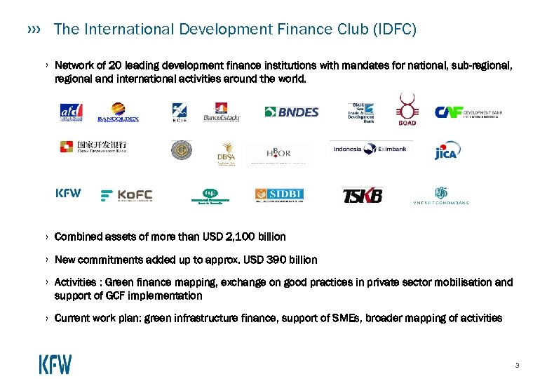The International Development Finance Club (IDFC) › Network of 20 leading development finance institutions