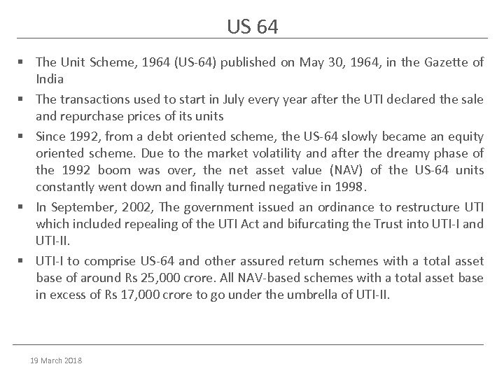 US 64 § The Unit Scheme, 1964 (US-64) published on May 30, 1964, in