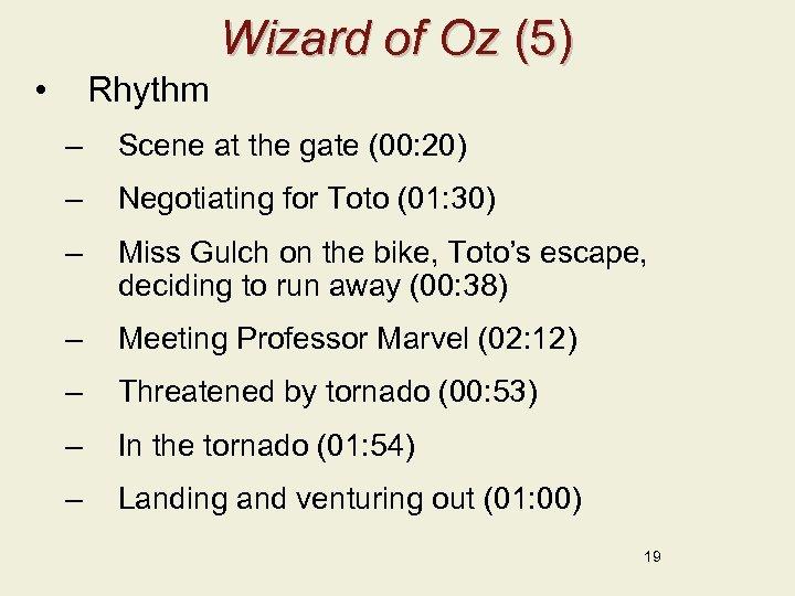 Wizard of Oz (5) • Rhythm – Scene at the gate (00: 20) –