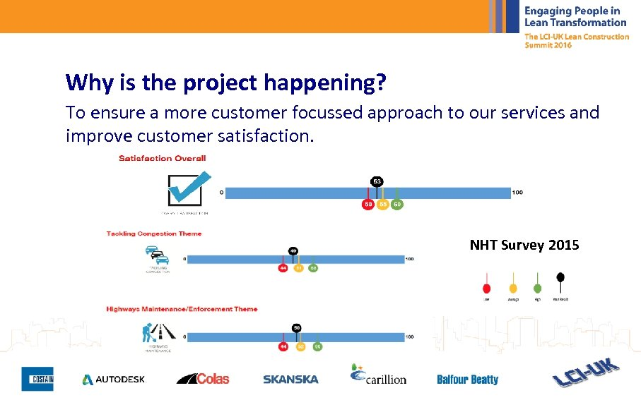 Why is the project happening? To ensure a more customer focussed approach to our