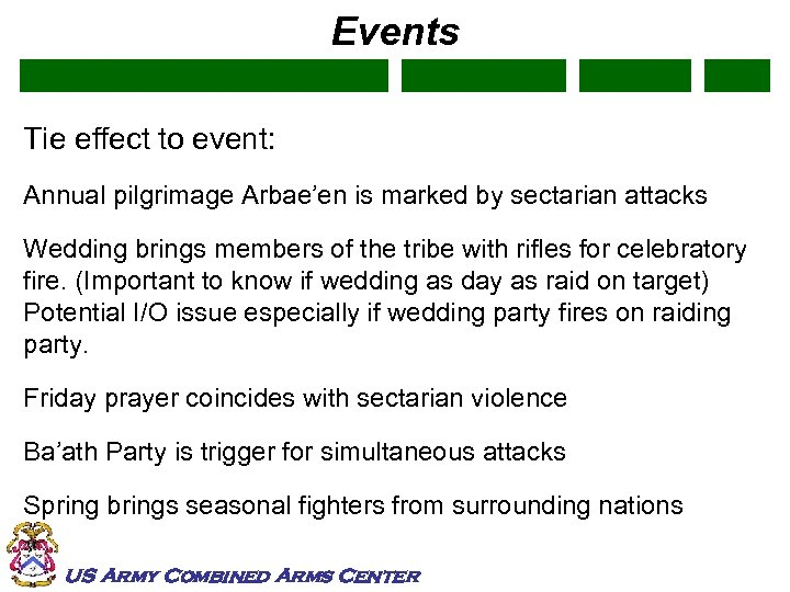 Events Tie effect to event: Annual pilgrimage Arbae'en is marked by sectarian attacks Wedding