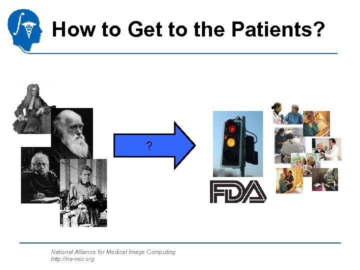 How to Get to the Patients? ? National Alliance for Medical Image Computing http: