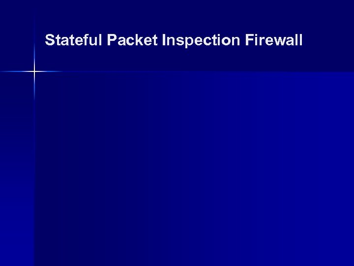 Stateful Packet Inspection Firewall