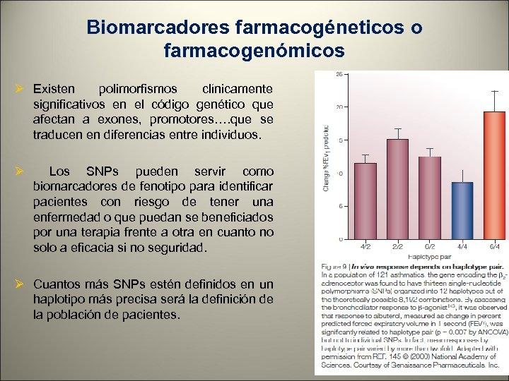 Biomarcadores farmacogéneticos o farmacogenómicos Ø Existen polimorfismos clínicamente significativos en el código genético que