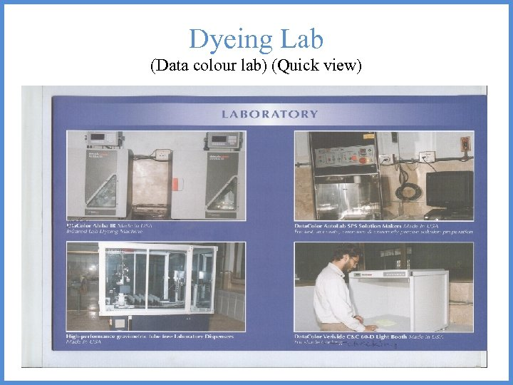 Dyeing Lab (Data colour lab) (Quick view)