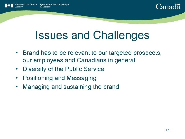 Issues and Challenges • Brand has to be relevant to our targeted prospects, our