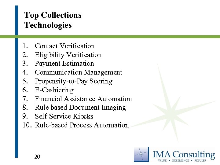 Top Collections Technologies 1. 2. 3. 4. 5. 6. 7. 8. 9. 10. Contact