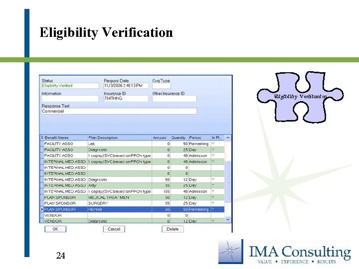 Eligibility Verification 24
