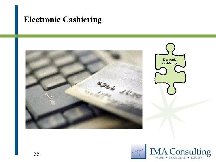 Electronic Cashiering 36