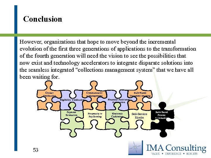 Conclusion However, organizations that hope to move beyond the incremental evolution of the first