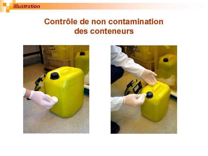 Illustration Contrôle de non contamination des conteneurs