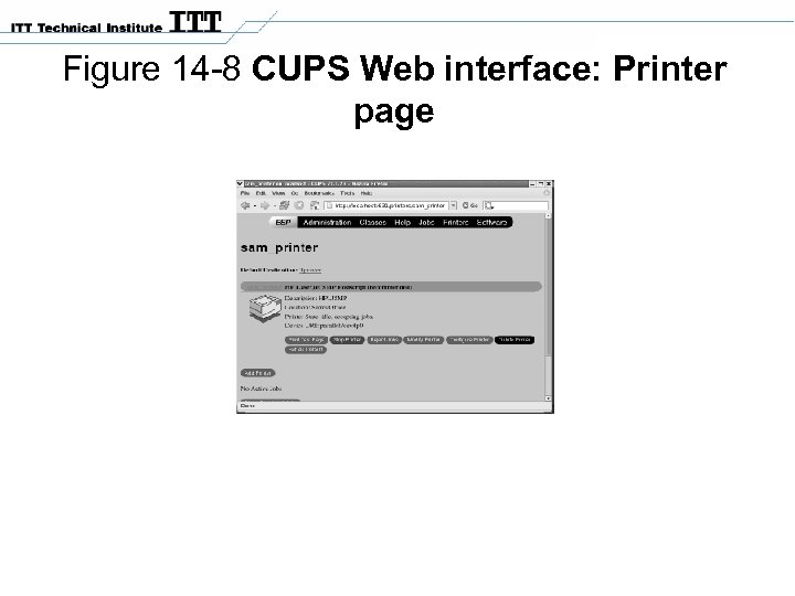 Figure 14 -8 CUPS Web interface: Printer page