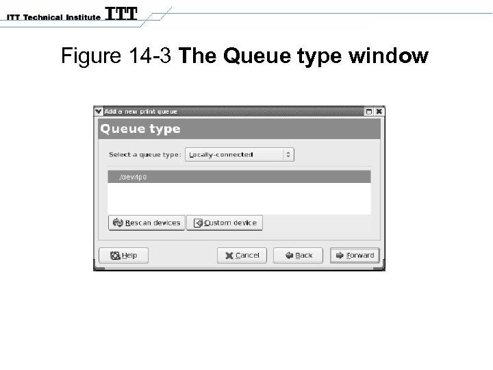 Figure 14 -3 The Queue type window