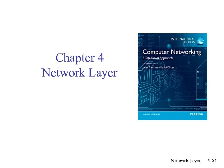 Chapter 4 Network Layer 4 -31