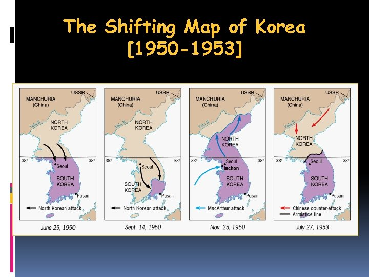The Shifting Map of Korea [1950 -1953]
