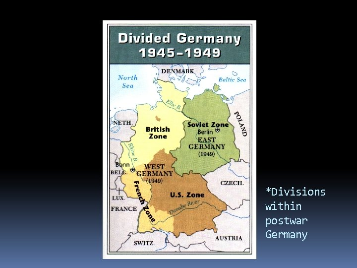 *Divisions within postwar Germany