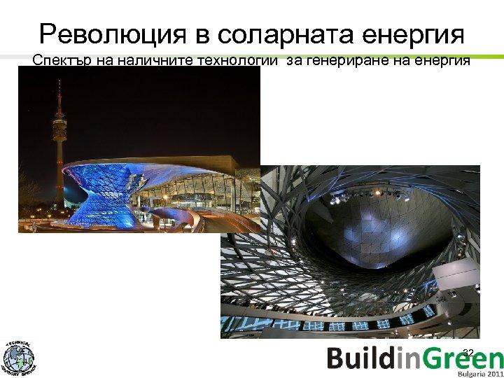 Революция в соларната енергия Спектър на наличните технологии за генериране на енергия 32