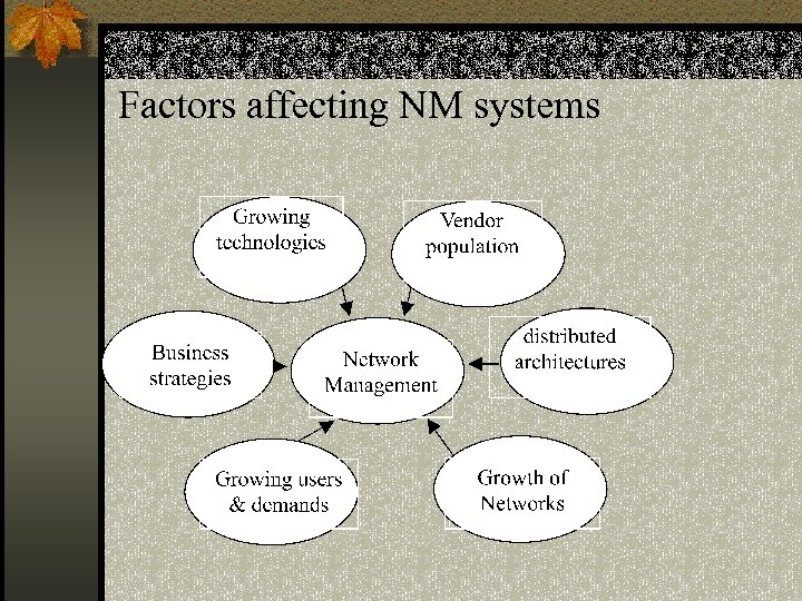 Factors affecting NM systems