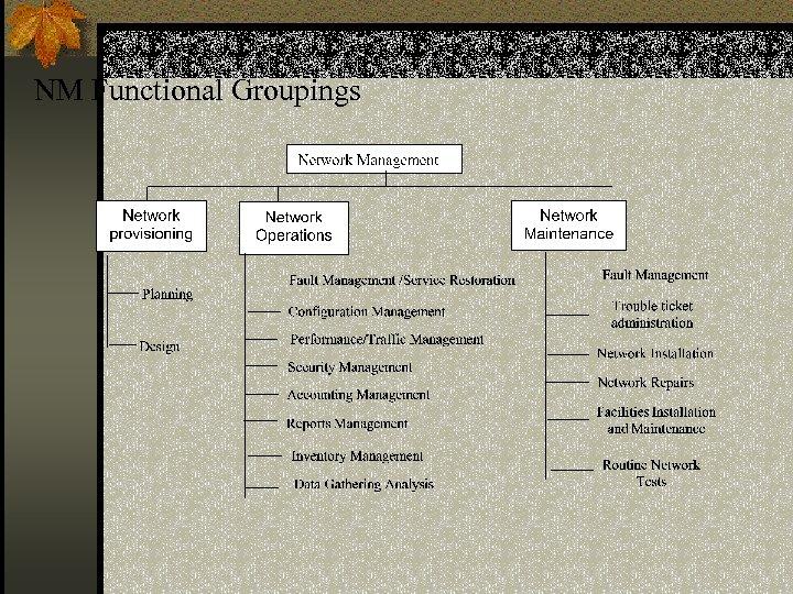 NM Functional Groupings