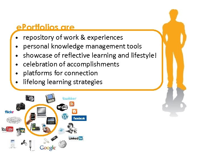 e. Portfolios are • • • repository of work & experiences personal knowledge management