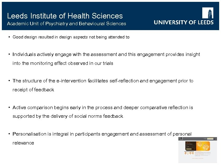 Leeds Institute of Health Sciences Academic Unit of Psychiatry and Behavioural Sciences • Good