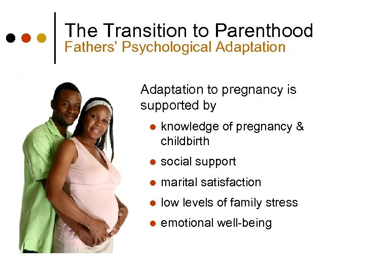 The Transition to Parenthood Fathers' Psychological Adaptation to pregnancy is supported by l knowledge