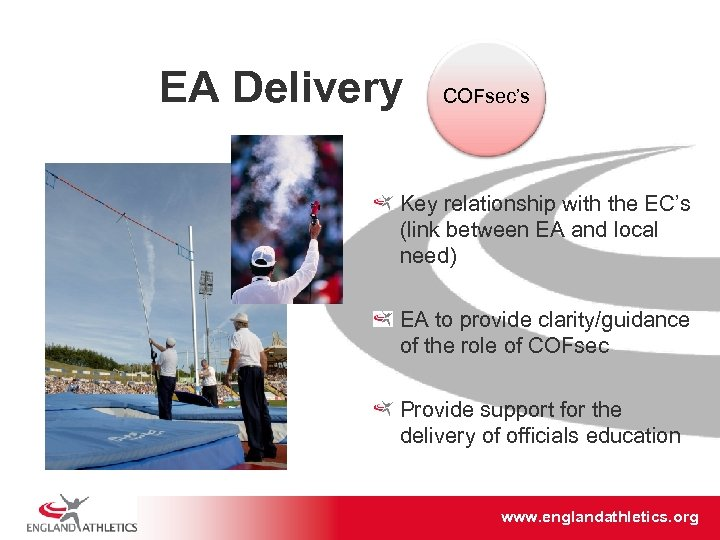 EA Delivery COFsec's Key relationship with the EC's (link between EA and local need)