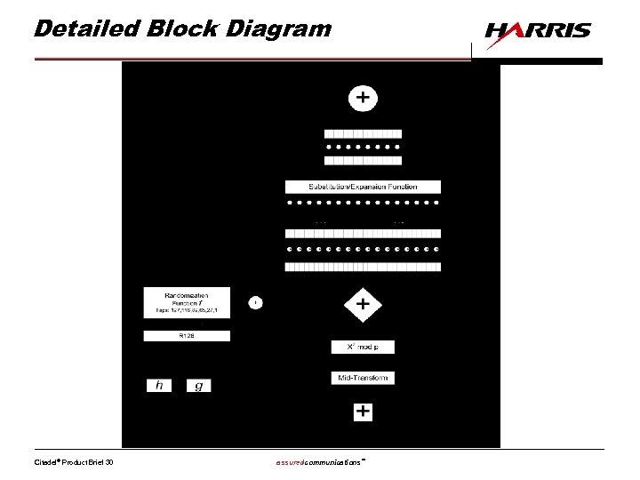 Detailed Block Diagram Citadel® Product Brief 30 assuredcommunications™