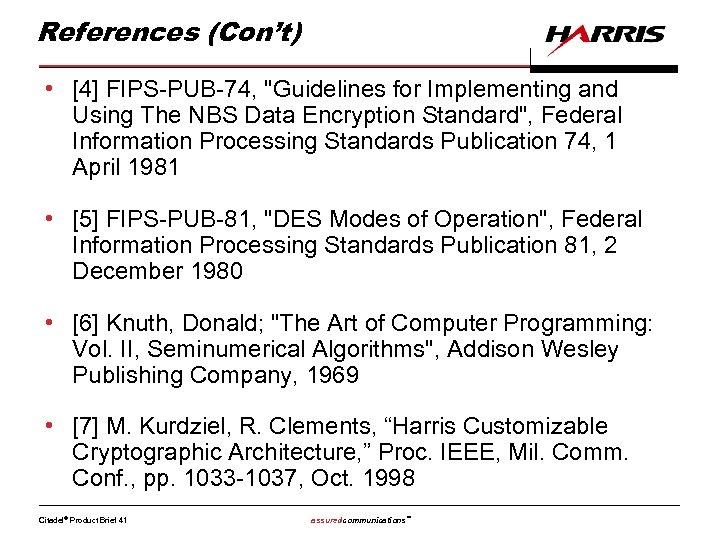 References (Con't) • [4] FIPS-PUB-74,