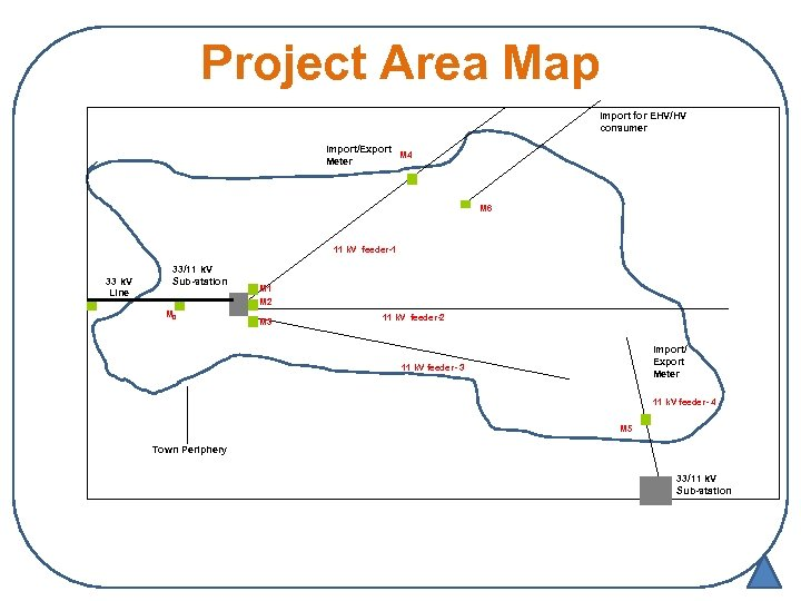 Project Area Map Import for EHV/HV consumer Import/Export M 4 Meter M 6 11