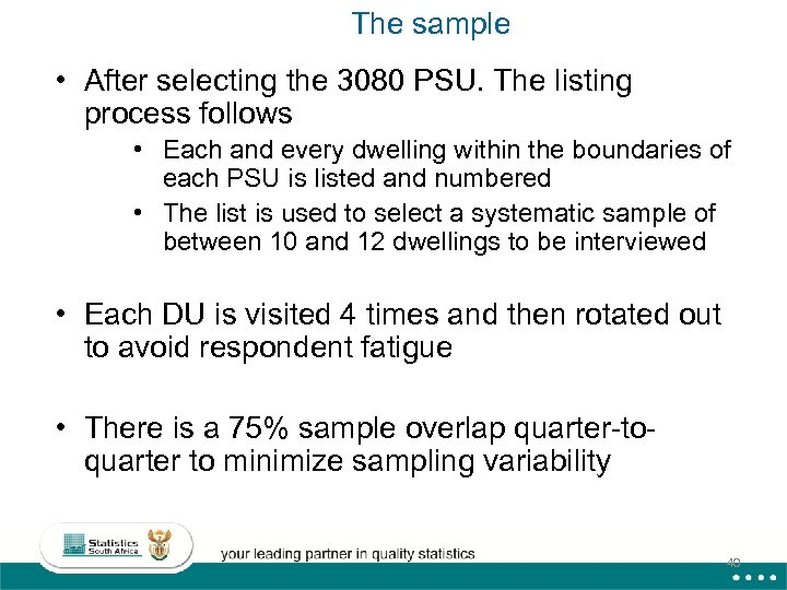 The sample • After selecting the 3080 PSU. The listing process follows • Each