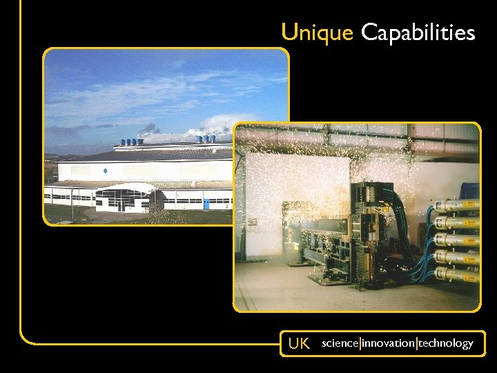 Unique Capabilities UK science|innovation|technology