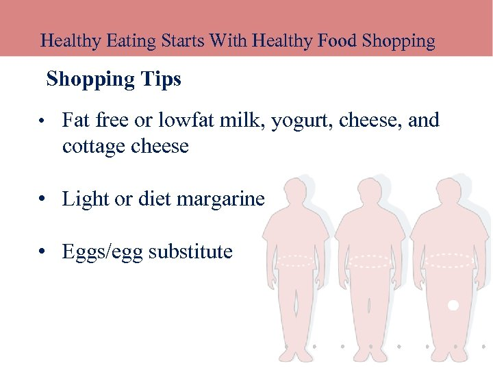 Healthy Eating Starts With Healthy Food Shopping Tips • Fat free or lowfat milk,