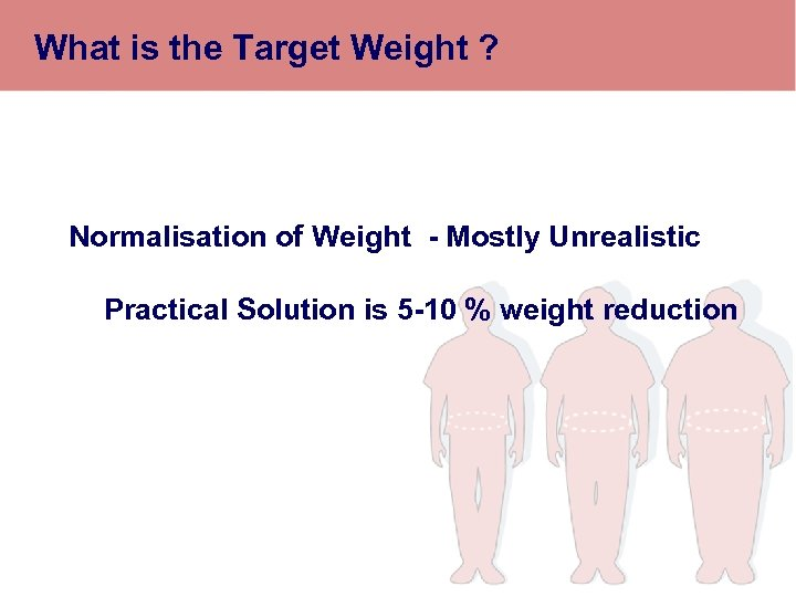 What is the Target Weight ? Normalisation of Weight - Mostly Unrealistic Practical Solution
