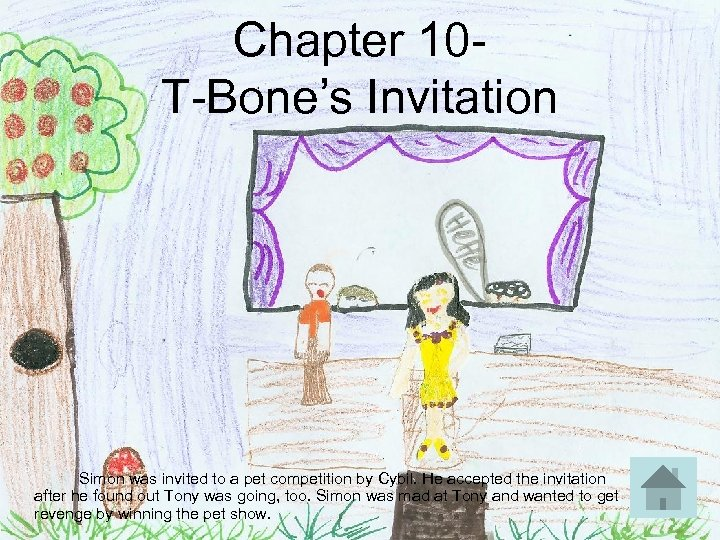 Chapter 10 T-Bone's Invitation Simon was invited to a pet competition by Cybil. He