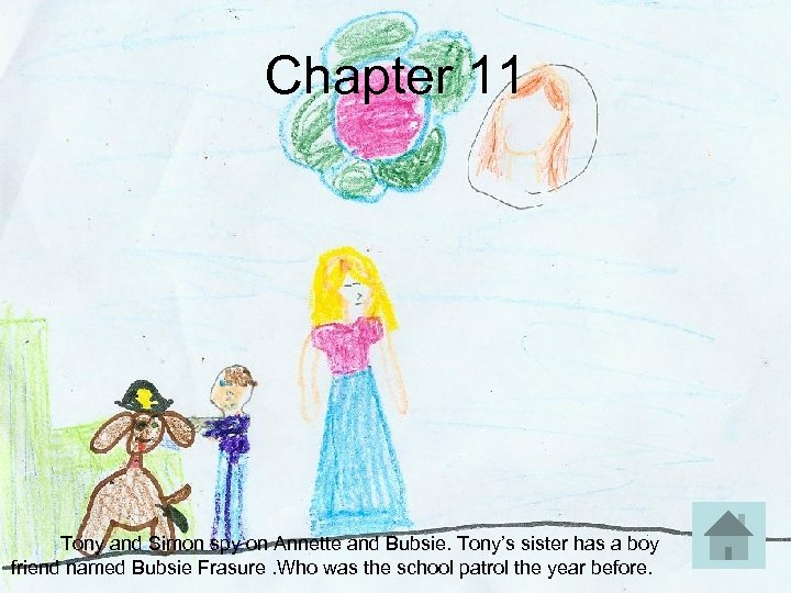 Chapter 11 Tony and Simon spy on Annette and Bubsie. Tony's sister has a