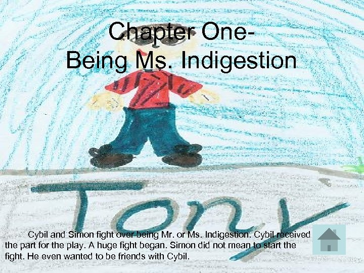 Chapter One- Being Ms. Indigestion Cybil and Simon fight over being Mr. or Ms.
