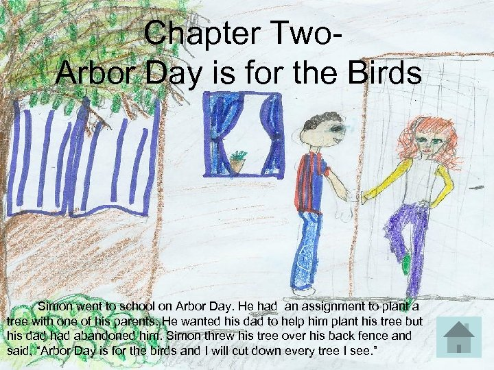 Chapter Two- Arbor Day is for the Birds Simon went to school on