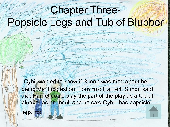 Chapter Three- Popsicle Legs and Tub of Blubber Cybil wanted to know if Simon