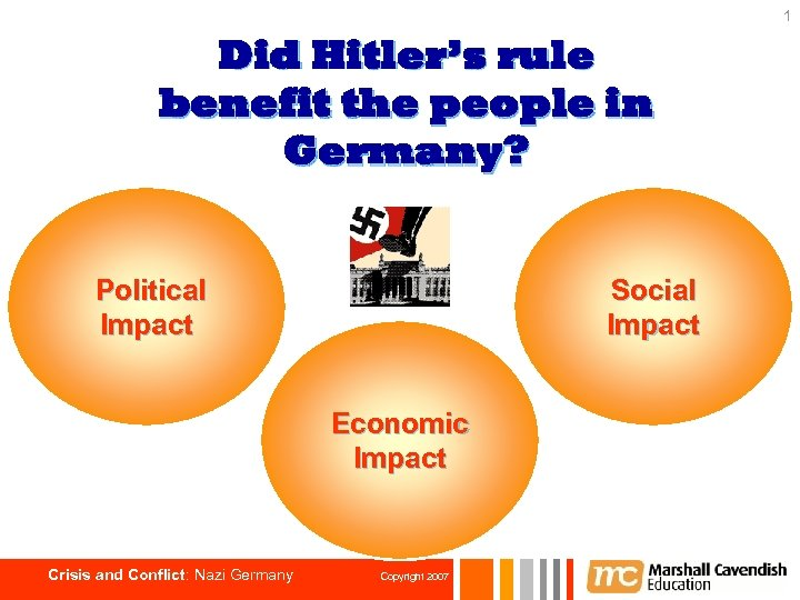 1 Did Hitler's rule benefit the people in Germany? Political Impact Social Impact Economic