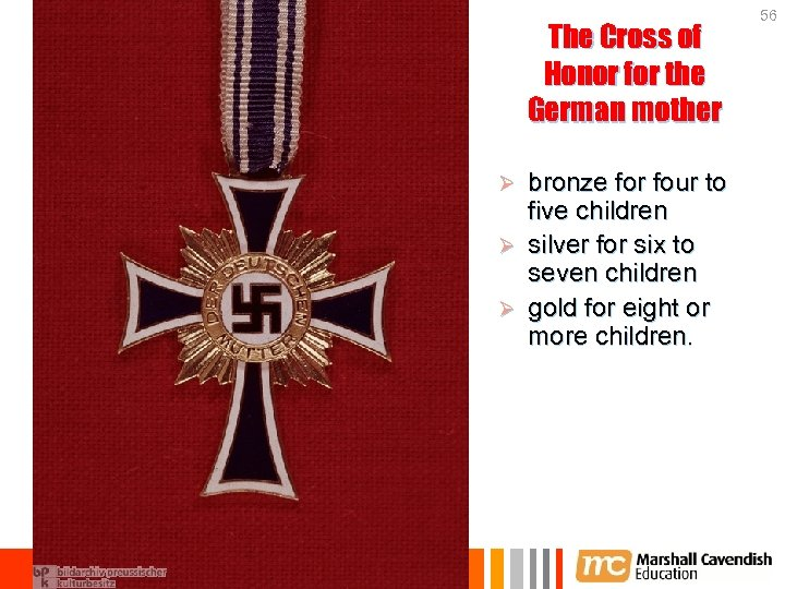 The Cross of Honor for the German mother bronze for four to five children