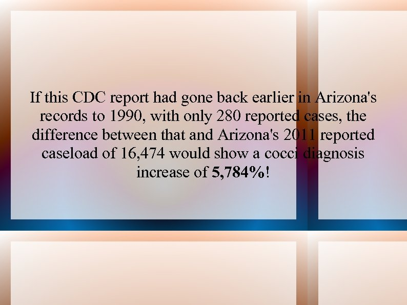 If this CDC report had gone back earlier in Arizona's records to 1990, with
