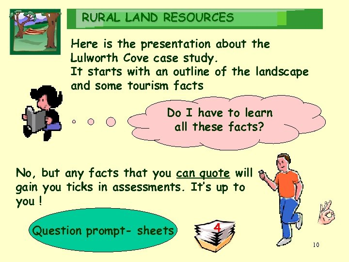 RURAL LAND RESOURCES Here is the presentation about the Lulworth Cove case study. It