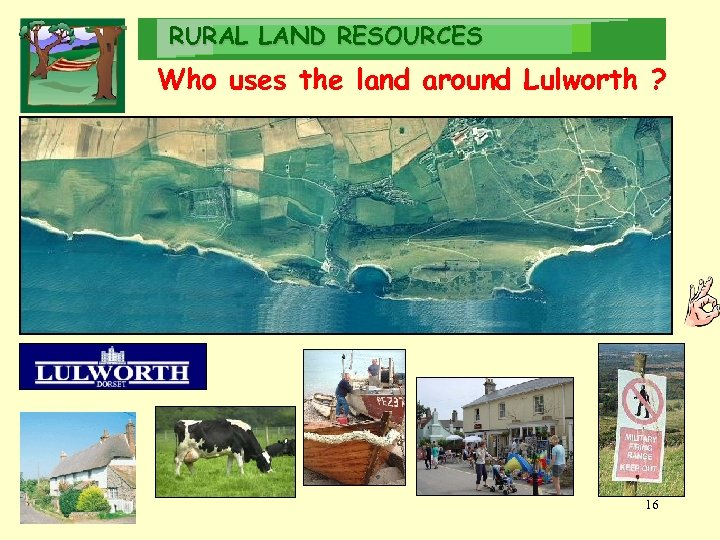 RURAL LAND RESOURCES Who uses the land around Lulworth ? Local Estate Locals Fishermen
