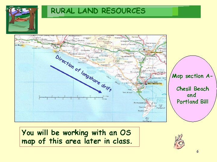 RURAL LAND RESOURCES Di re ct ion of lon gs h or e Map