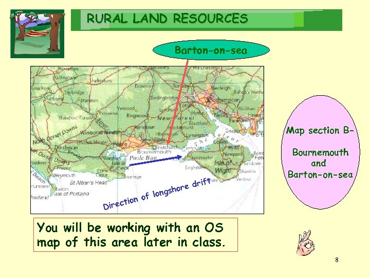 RURAL LAND RESOURCES Barton-on-sea Map section B- ng of lo tion Direc ift re