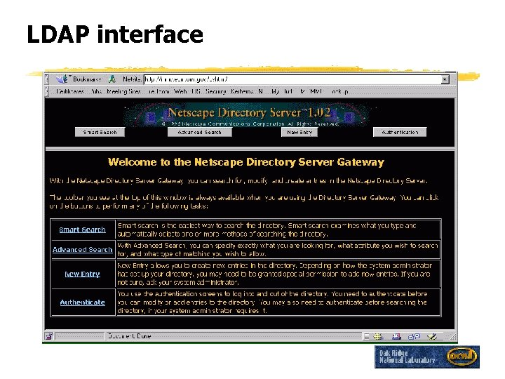 LDAP interface