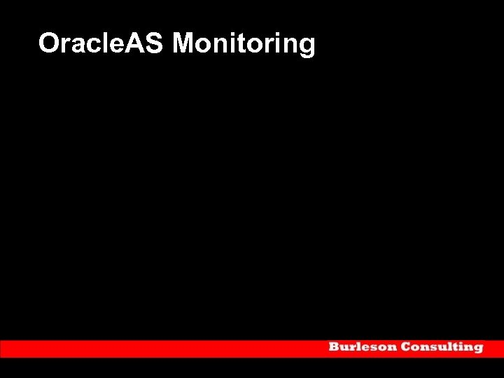 Oracle. AS Monitoring