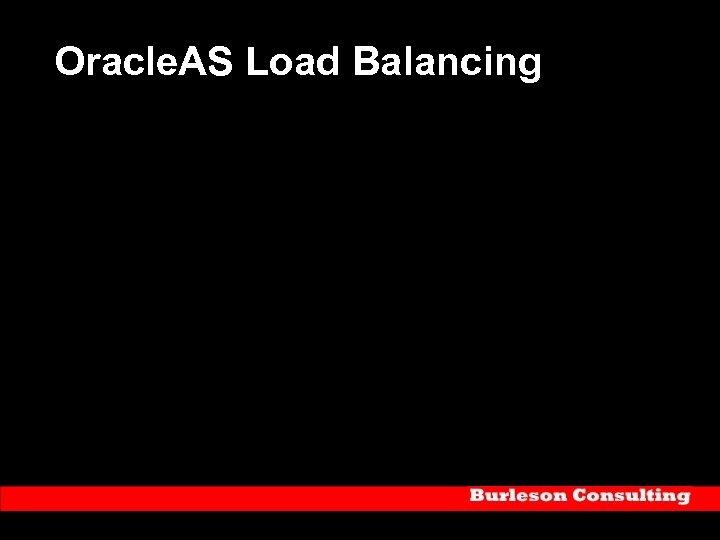 Oracle. AS Load Balancing