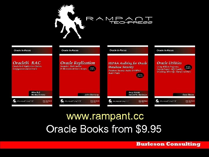 www. rampant. cc Oracle Books from $9. 95